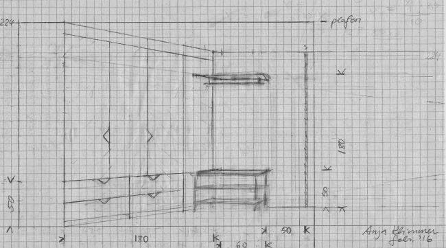 tekening meubelmaker Cirkel Hout