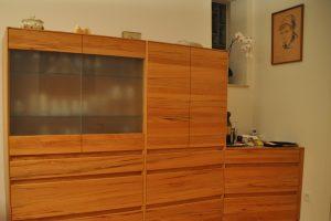 woonmkamer kast meubelmaker Cirkel Hout