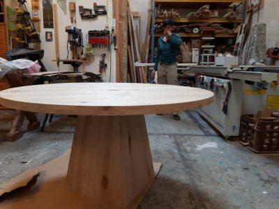 werk in uitvoering meubelmaker Cirkel Hout