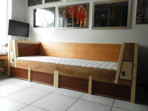 zit-lig-bank meubelmaker Cirkel Hout