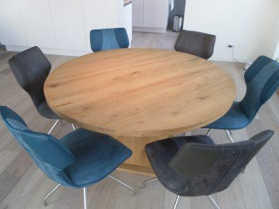 eettafel meubelmaker Cirkel Hout