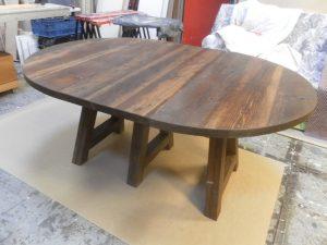 verlengbare tafel meubelmaker Cirkel Hout